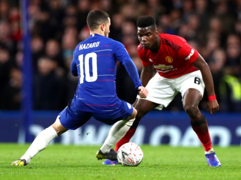 Chelsea launch defence of Eden Hazard after Man Utd star Paul Pogba is named in PFA Team of the Year