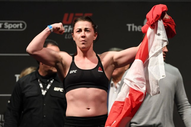 Molly McCann poses with the English flag