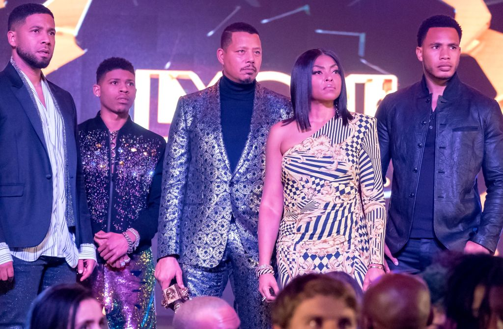 """EMPIRE: L-R: Jussie Smollett, Bryshere Y. Gray, Terrence Howard, Taraji P. Henson and Trai Byers in the """"Had It From My Father"""" fall finale episode of EMPIRE airing Wednesday, Dec. 5 (8:00-9:00 PM ET/PT) on FOX. (Photo by FOX via Getty Images)"""