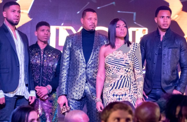 "EMPIRE: L-R: Jussie Smollett, Bryshere Y. Gray, Terrence Howard, Taraji P. Henson and Trai Byers in the ""Had It From My Father"" fall finale episode of EMPIRE airing Wednesday, Dec. 5 (8:00-9:00 PM ET/PT) on FOX. (Photo by FOX via Getty Images)"