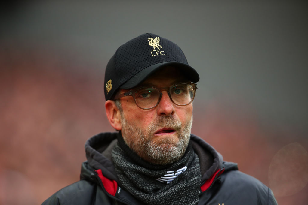 Jurgen Klopp plays down Manchester City's chances of winning the quadruple