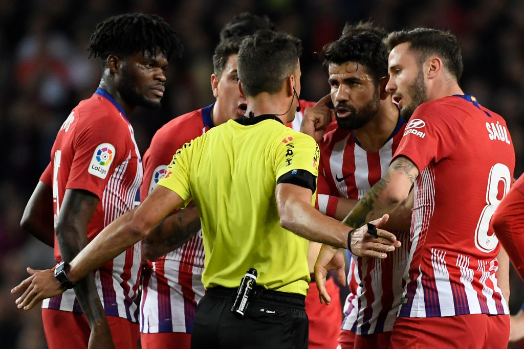 What Diego Costa said to the referee to get straight red card against Barcelona