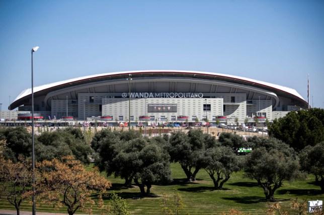 The Estadio Wanda Metropolitano in Madrid