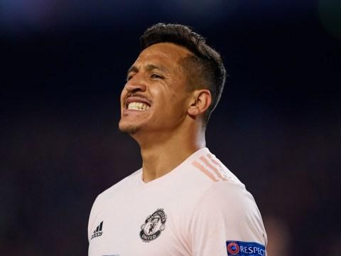 Alexis Sanchez reacts to Lionel Messi Champions League masterclass against Man Utd