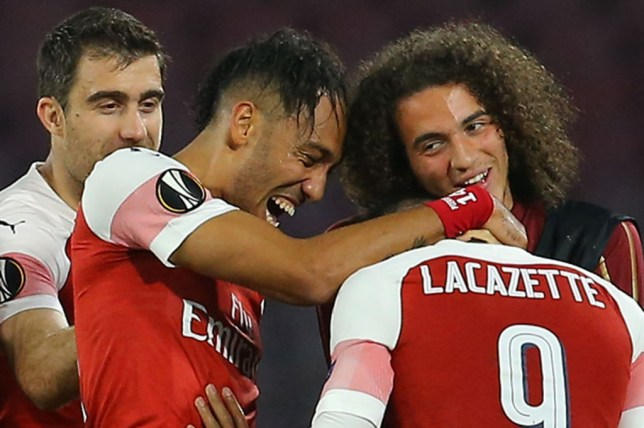 Alexandre Lacazette scored Arsenal's decisive goal against Napoli in the Europa League