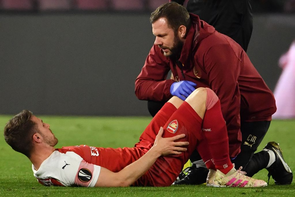 Unai Emery provides fitness update on Aaron Ramsey after Arsenal star suffers injury against Napoli