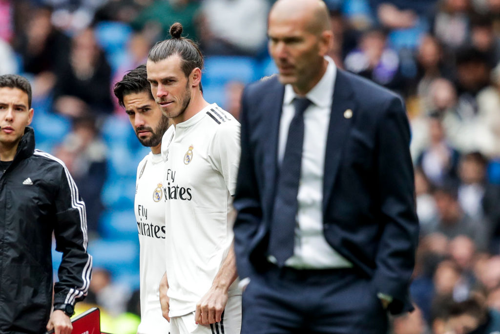Gareth Bale's commitment was questioned by Zinedine Zidane after Real Madrid's defeat