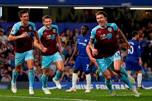 Burnley drew to Chelsea at Stamford Bridge