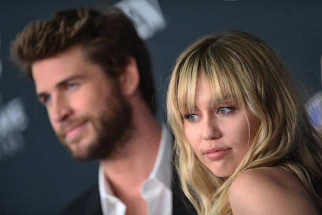 Miley Cyrus and Liam Hemsworth at the Avengers: Endgame film premiere