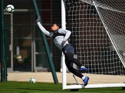 Virgil van Dijk injury fears allayed thanks to surprising Liverpool training photos