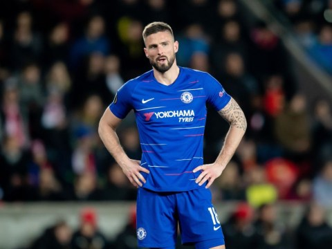 Olivier Giroud basically tells Maurizio Sarri why he should start instead of Gonzalo Higuiain against Liverpool