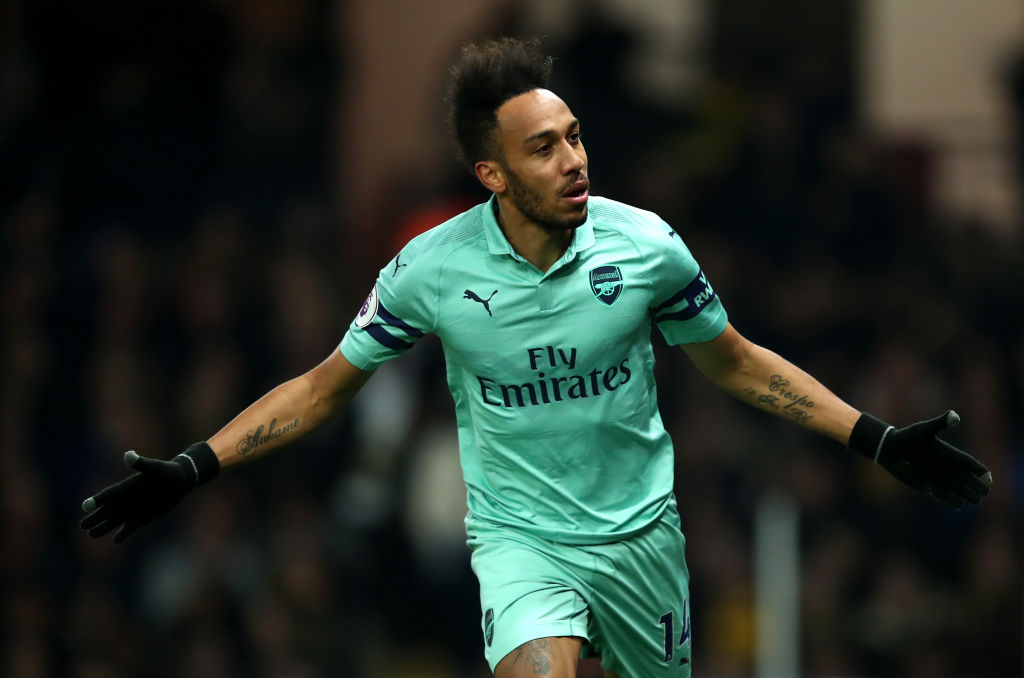 Pierre-Emerick Aubameyang talks up golden boot chances after scoring winner for Arsenal against Watford