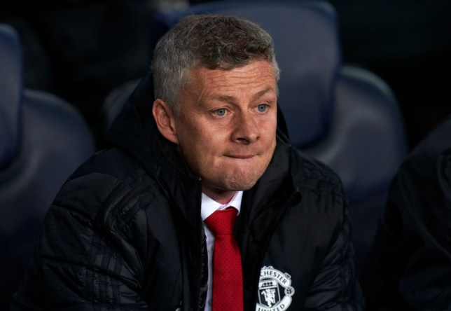 Manchester United boss Ole Gunnar Solskjaer unhappy with players after Barca loss