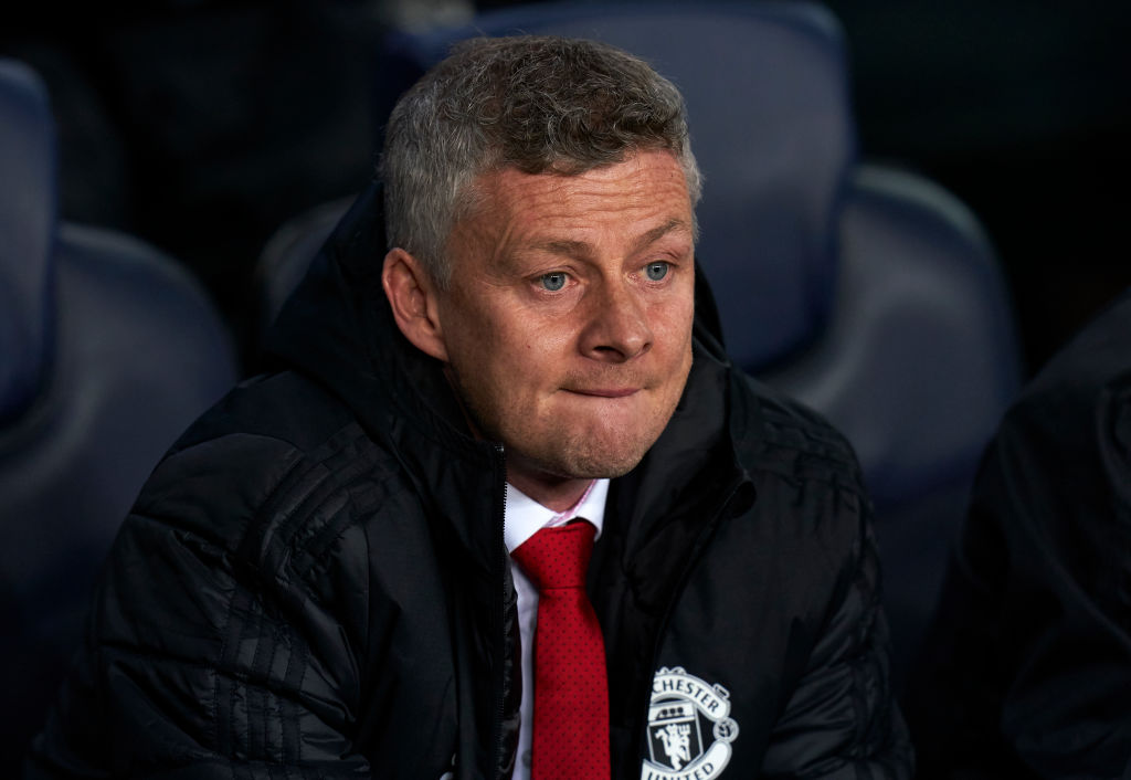 Manchester United trainer Ole Gunnar Solskjaer unfortunate with players after Barca loss