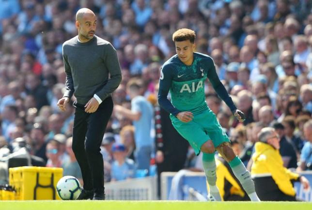 Manchester City vs Tottenham: Dele Alli tries to nutmeg Pep Guardiola