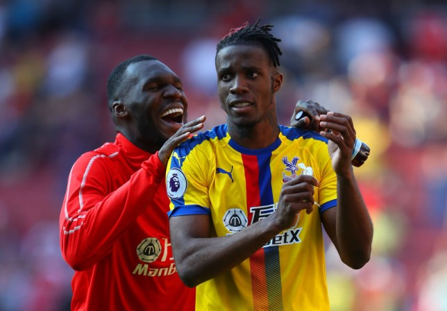 Christian Benteke and Wilfried Zaha