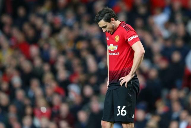 Matteo Darmian made his first Premier League appearance since December as Man Utd were beaten 2-0 by Man City