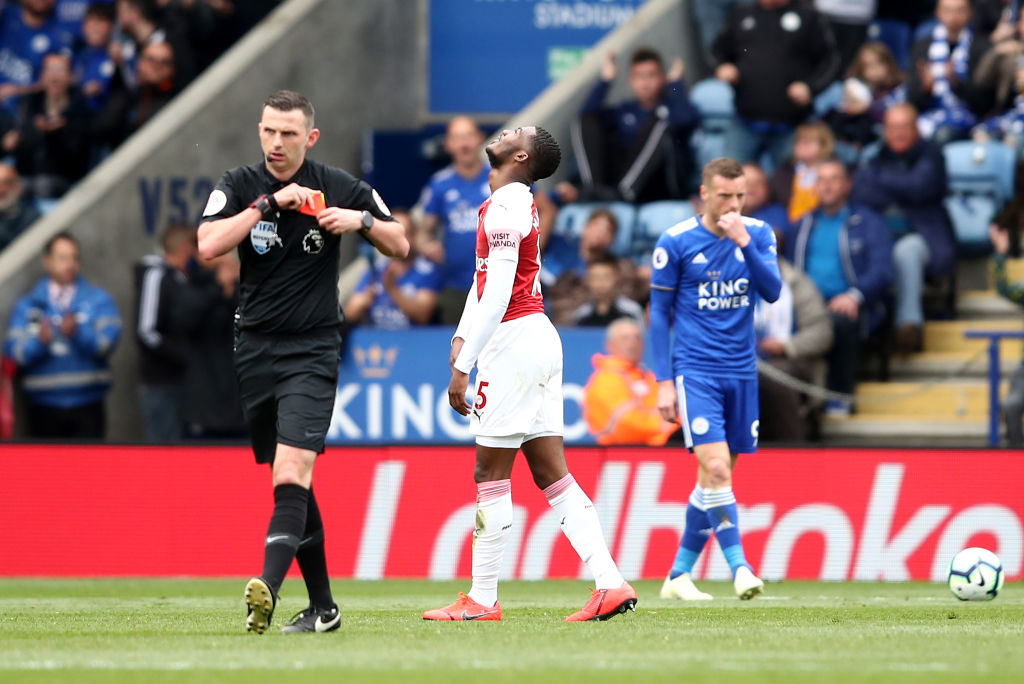 Unai Emery breaks silence over Ainsley Maitland-Niles' sending off during Arsenal's defeat to Leicester