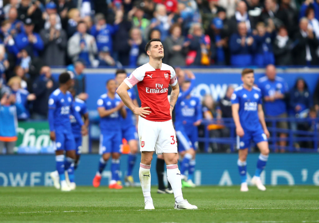 Granit Xhaka admits that Arsenal lacked fight during costly defeat to Leicester