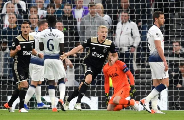 Ajax beat Tottenham in the first leg of the Champions League semi-final