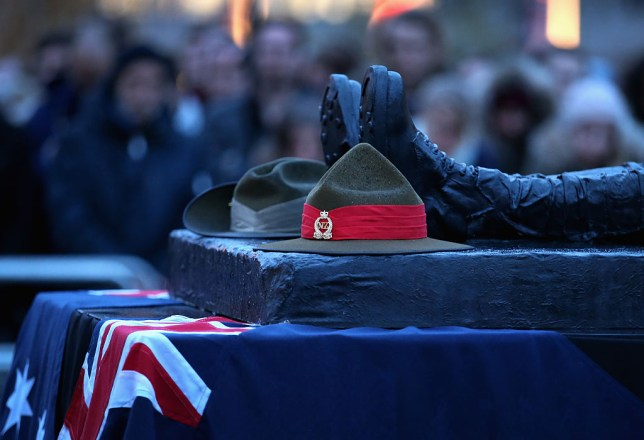 A dawn service in London for Anzac Day