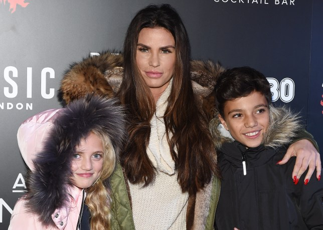 Katie Price with Princess and Junior