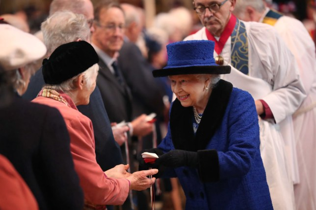 The Queen during Maundy Thursday service