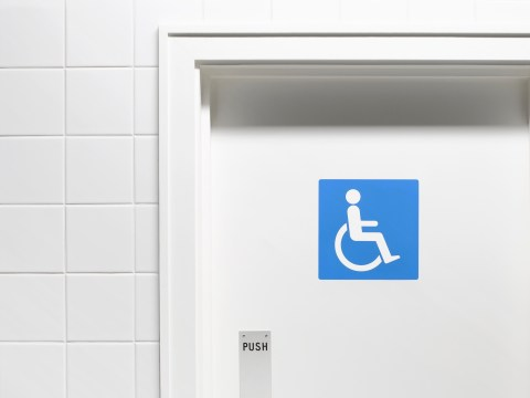 By using the disabled toilet you're putting me at risk