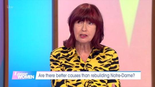 Janet Street-Porter on Loose Women (Picture: ITV)