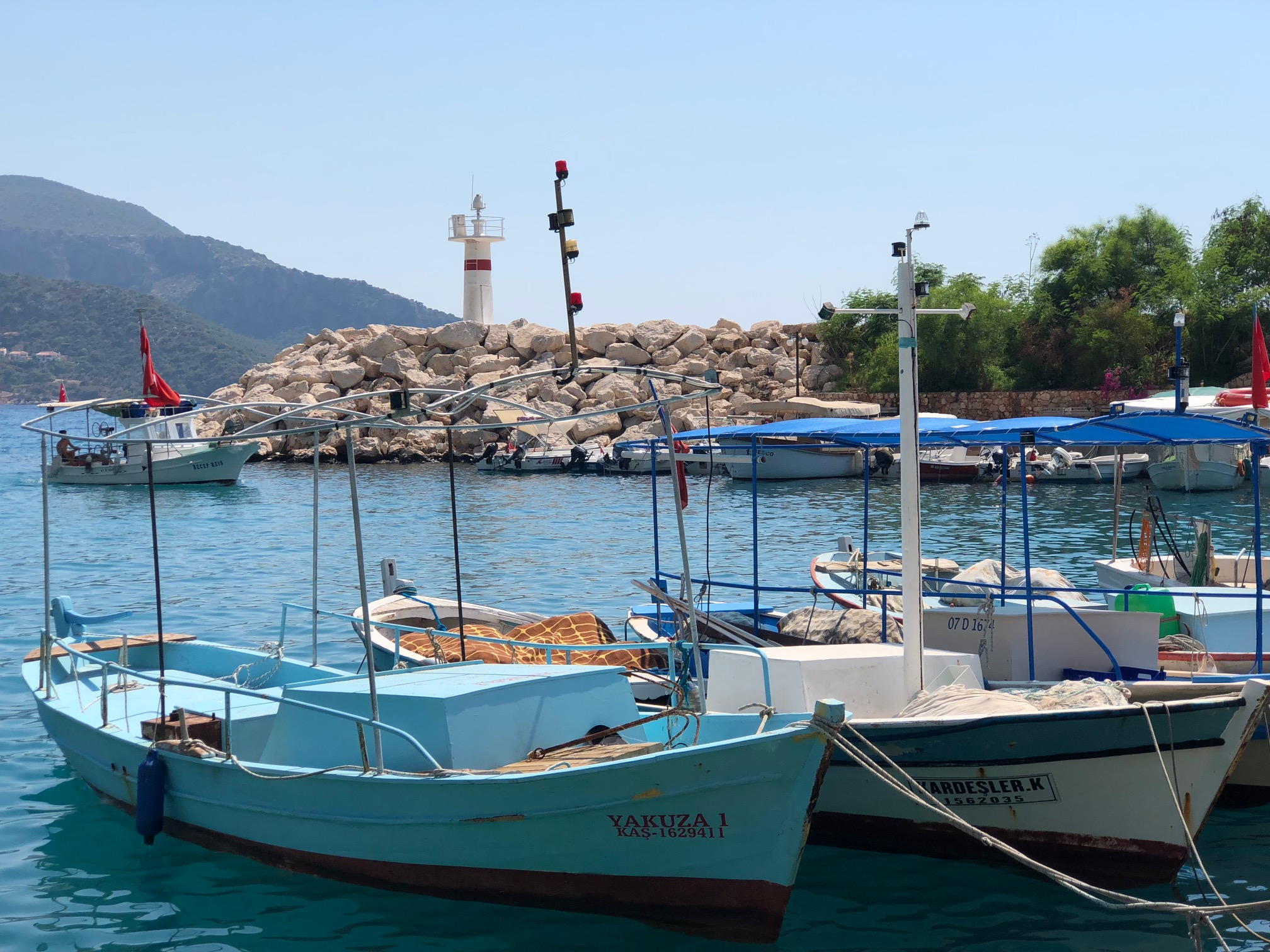 Kalkan's bustling harbour is the place to watch yachts and trawlers come and go, to board your gulet or just for a stroll Picture: Deborah Arthurs)
