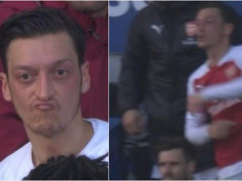 Unai Emery responds to Mesut Ozil after Arsenal star threw his jacket at Everton bench