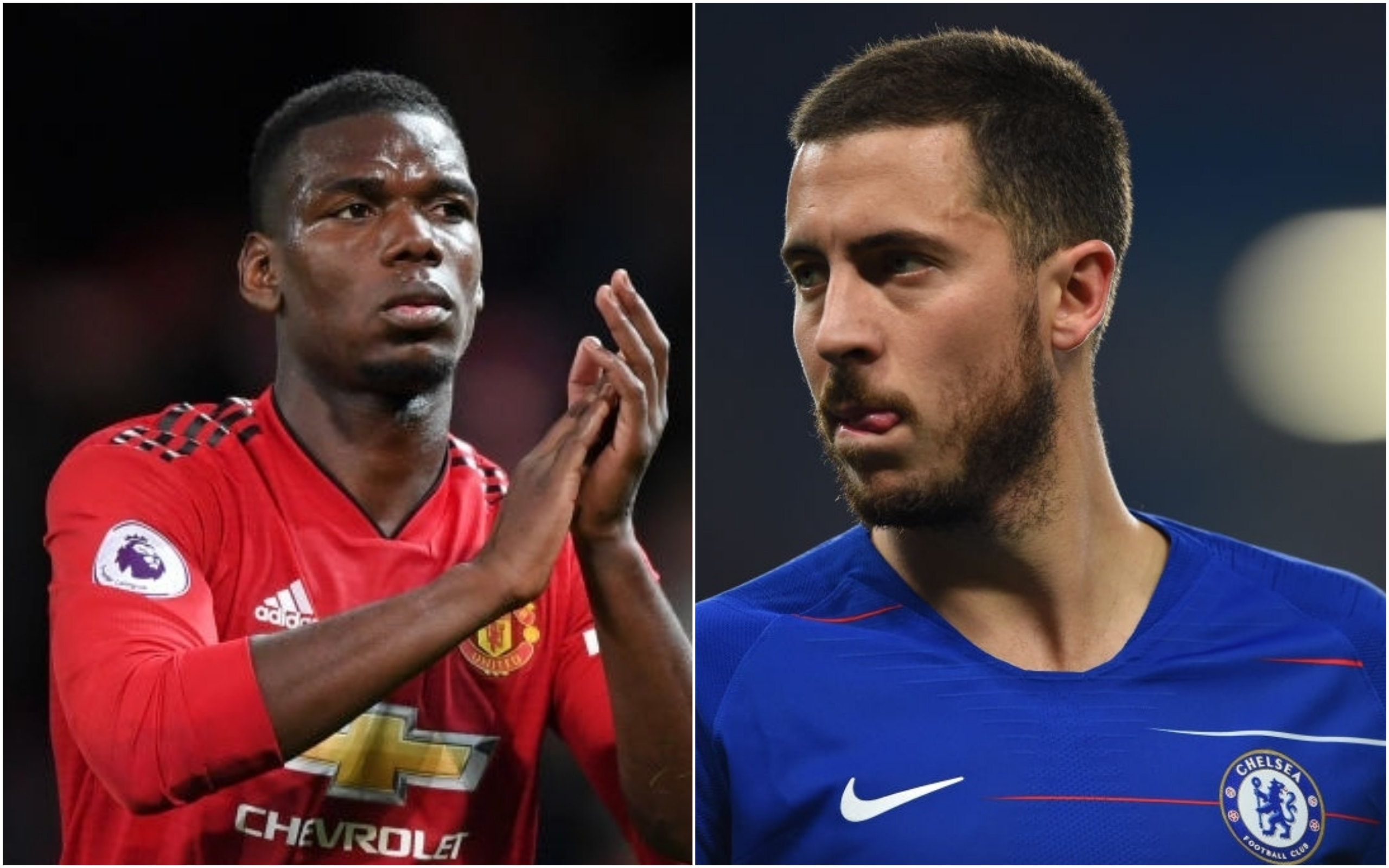 Paul Pogba made the PFA Team of the Year but Eden Hazard missed out