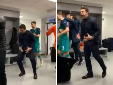 Mauricio Pochettino goes full Diego Simeone in incredible dressing room celebration