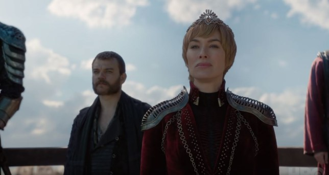 Euron Greyjoy (Pilou Asbæk) and Cersei Lannister (Lena Headey) in Game of Thrones season 8, episode 4