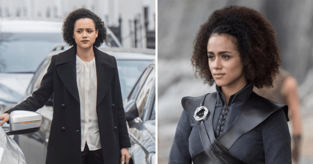 Game Of Thrones star Nathalie Emmanuel films Four Weddings and a funeral
