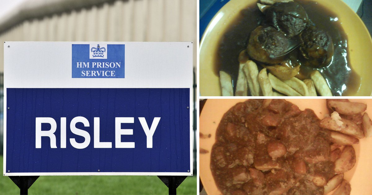 Leaked pictures of prison meals that inmate says are 'worse than dog food'
