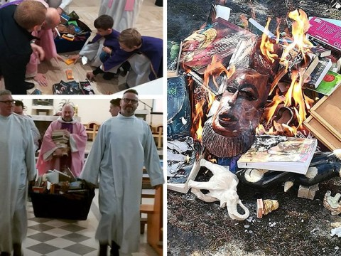 Harry Potter books burned by priests for being 'against word of God'