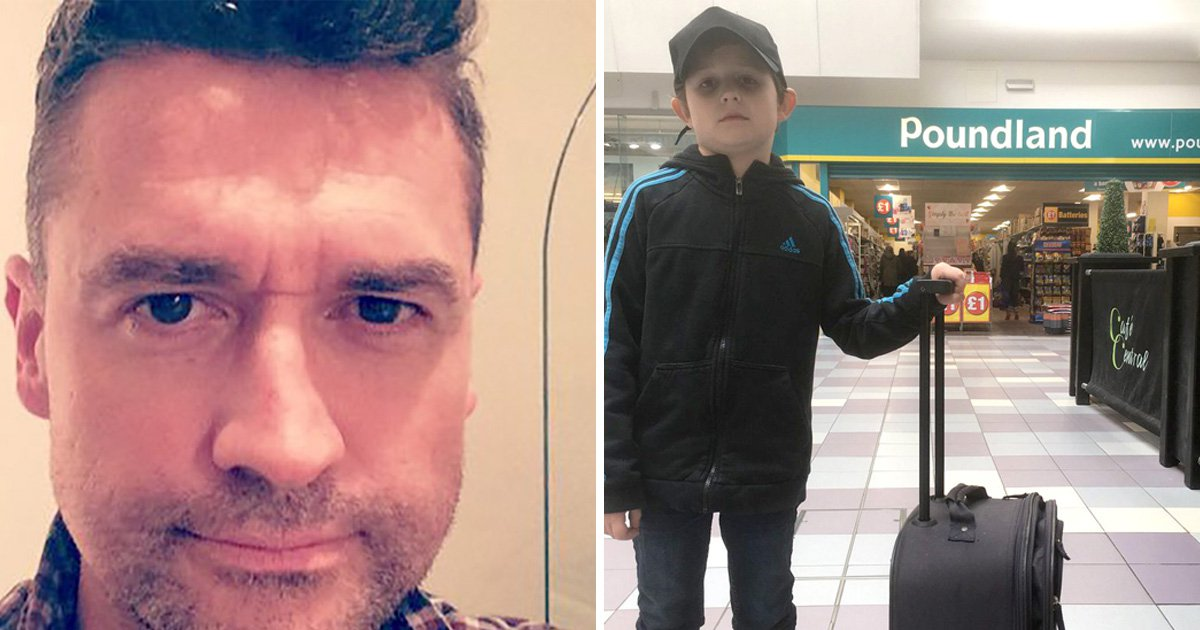 Dad makes son think he's going to Disneyland but takes him to Poundland instead