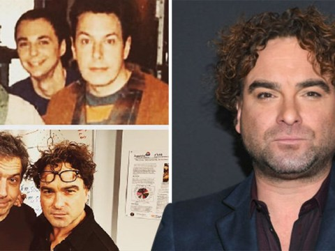 Johnny Galecki admits he looks 'less-showered' in Big Bang Theory throwback with Jim Parsons