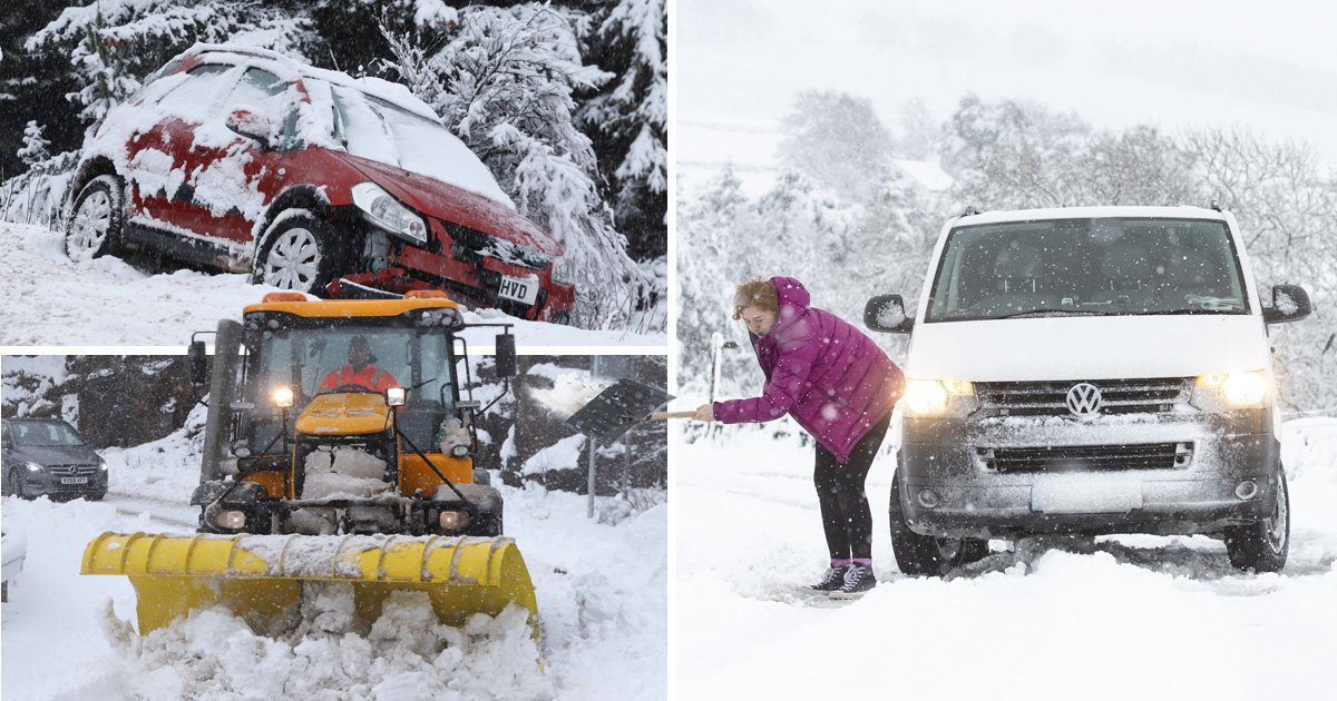Heavy snow hits UK as wintry weather returns across country