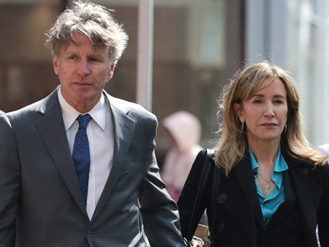 Felicity Huffman cracks a smile as she faces day in court amid college bribery charges