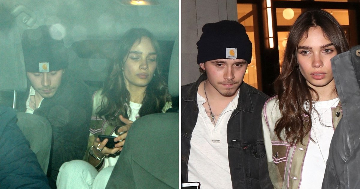 Brooklyn Beckham and girlfriend Hana Cross inseparable as they cosy up at party