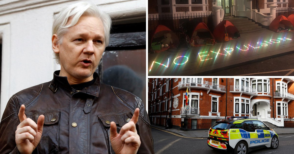 Julian Assange claims he's going to be kicked out of Ecuador embassy