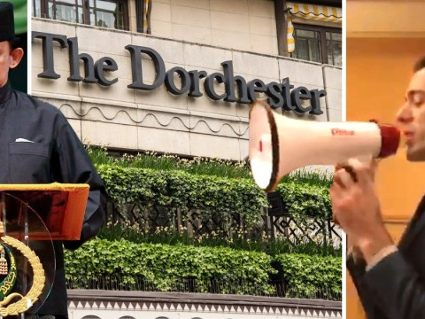 Gay rights activists infiltrate Dorchester Hotel in protest over Brunei death penalty