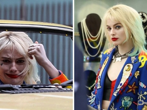 Margot Robbie looks distraught on DC Comics' Birds Of Prey set