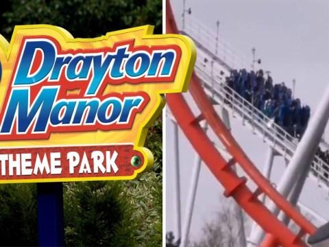 Drayton Manor roller coaster 'breaks down' leaving customers stranded 100ft in air