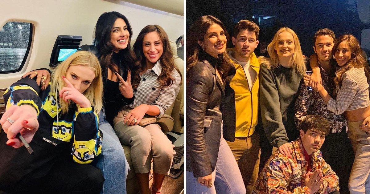 Jonas Brothers look so happy during triple date with Priyanka Chopra, Sophie Turner and Danielle