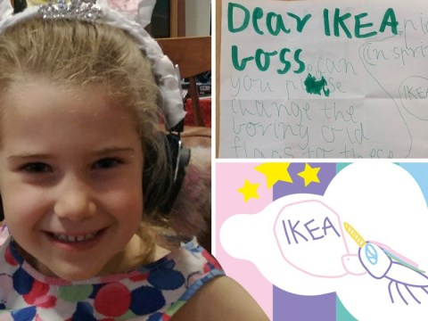 Seven-year-old girl asks Ikea to change 'boring' flags to include unicorns – and they oblige