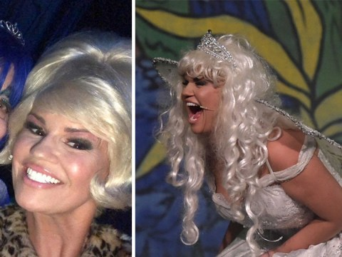 Kerry Katona doesn't hold back as she transforms into Atomic Fairy for Beauty And The Beast panto