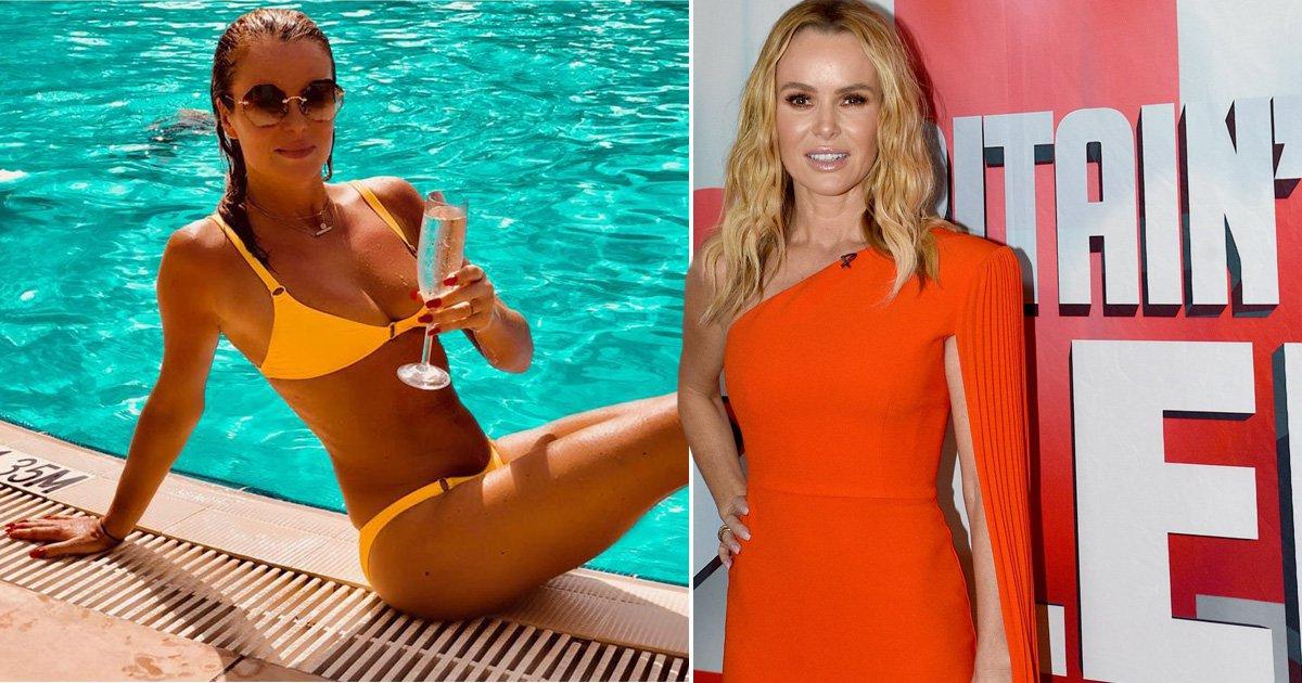 Amanda Holden poses in bikini on Dubai holiday to celebrate Britain's Got Talent's highest ratings